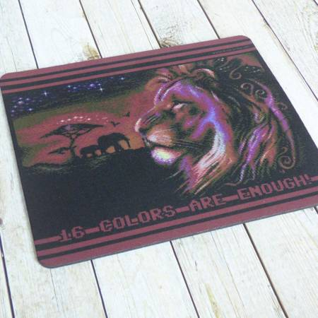 Commodore C64 Mousepad 'African Night' 8-bit Retro Design