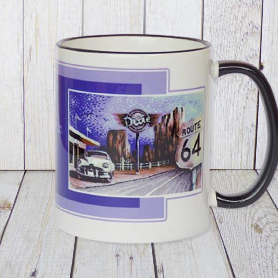 Commodore C64 Kaffeebecher 8-bit Retro Design 'Route 64'