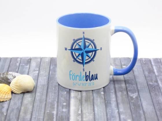 Maritimer Kaffeebecher nautisch mit Kompassrose
