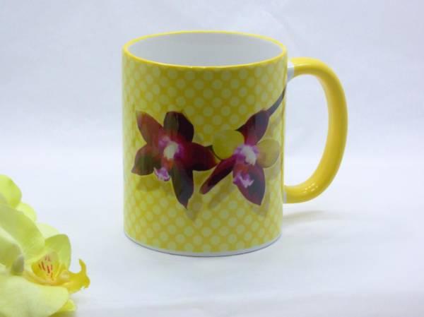 Orchideen Kaffeebecher Keramik Phalaenopsis bedruckt