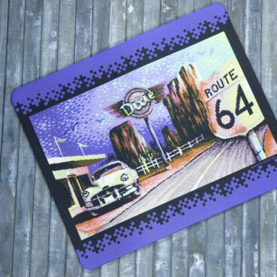 Commodore C64 Mousepad 'Route 64' 8-bit Retro Design