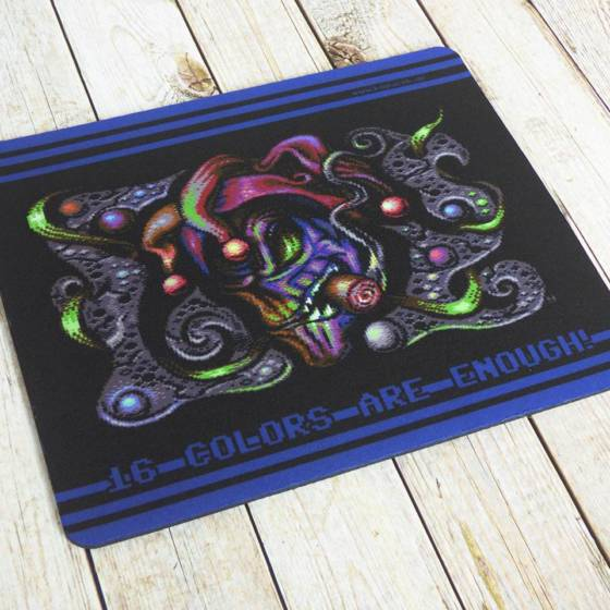 Commodore C64 Mousepad 'Shrill' 8-bit Pixel Retro Design