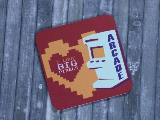 Arcade Retro Glasuntersetzer Big Pixels