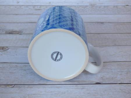 Lustiger Kaffeebecher maritim bedruckt mit plattdeutschem Spruch