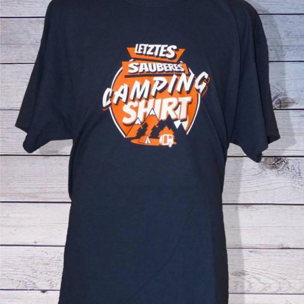 "Herren T-Shirt ""Letztes sauberes Camping Shirt"""