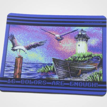 "Mousepad im C64-Pixelstyle ""Another Flock of Seagulls"""