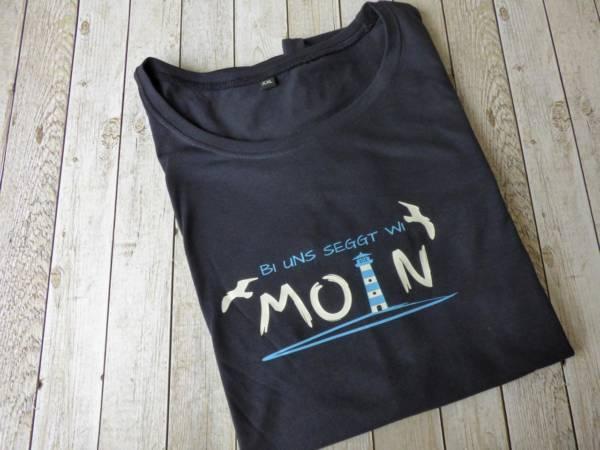 Maritimes Damen T-Shirt mit norddeutschem Spruch
