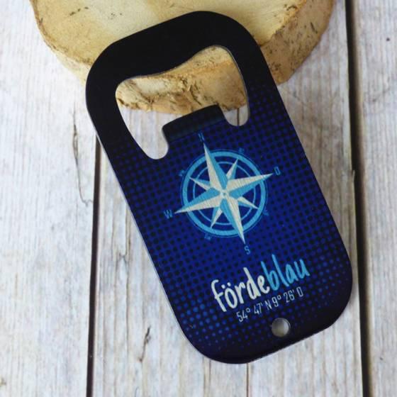 Maritimer Edelstahl Flaschenöffner mit Kompassrose
