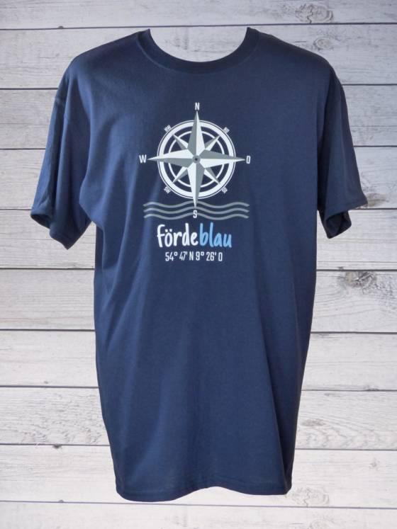 Fördeblau Herren T-Shirt mit Kompassrose