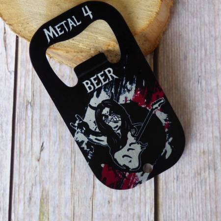 "Heavy Metal Edelstahl Flaschenöffner ""Metal 4 Beer"""