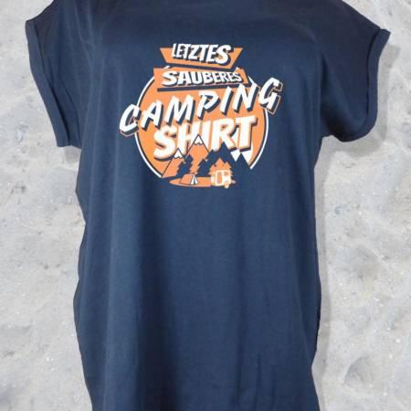 "Damen T-Shirt ""Letztes sauberes Camping Shirt"""