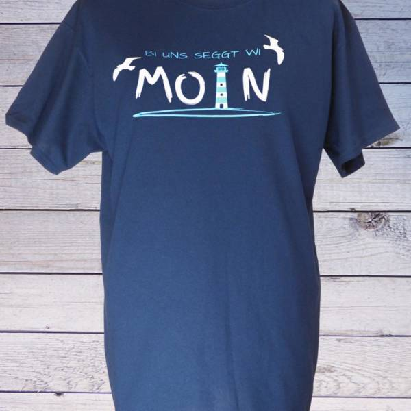 Maritimes Herren T-Shirt mit norddeutschem Spruch