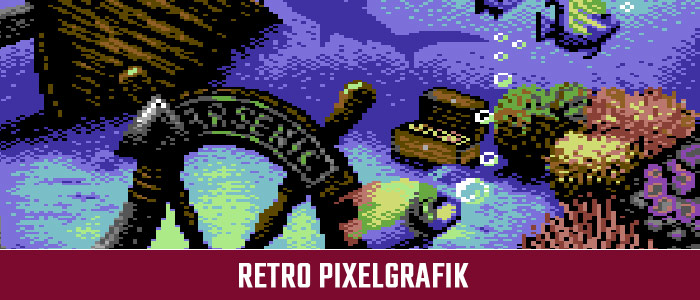 Retro Pixelgrafik Homecomputer