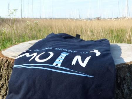 Maritimes T-Shirt mit norddeutschem Spruch