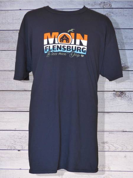 Moin Flensburg T-Shirt: Ik leev mien Dörp