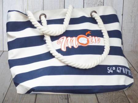 Maritime Strandtasche für den Urlaub