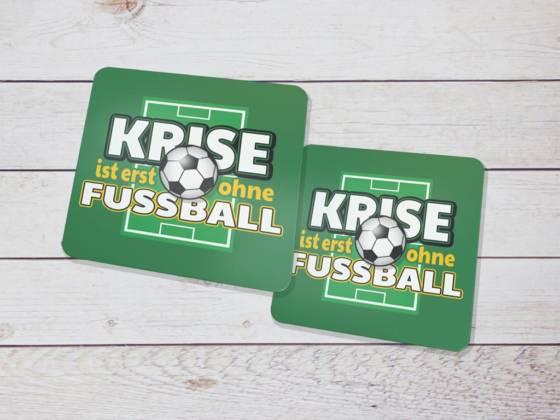 Fussball Bierdeckel als Geschenkidee