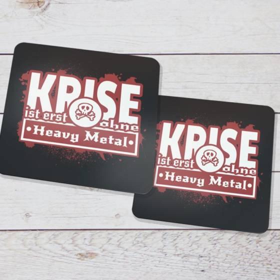 Cooles Heavy Metal Accessoire – Untersetzer mit Spruch