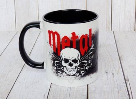 Coole Heavy Metal Tasse in schwarz und weiss
