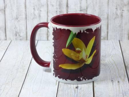 Kaffeebecher mit Blumen