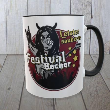 """Kaffeebecher für Musik-Festival-Fans: """"Letzter sauberer Festival Becher"""""""