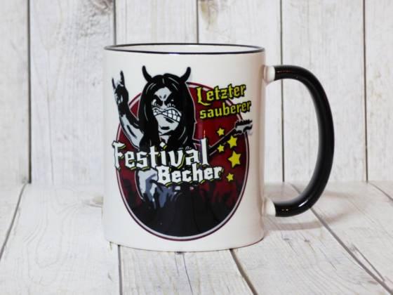 Lustige Tasse - Letzter sauberer Festival-Becher