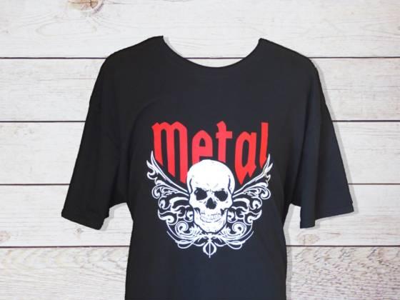 Metal Rock Shirt mit Totenschädel / Skull