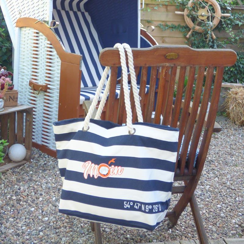 Beach Bag mit Reissverschluss für den Strand