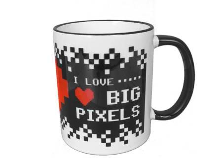 Nerdige Pixel-Style Tasse