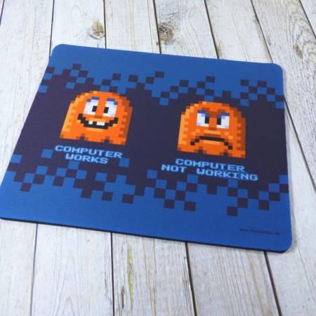 Mousepad mit Pixel-Art bedruckt für echte Nerds