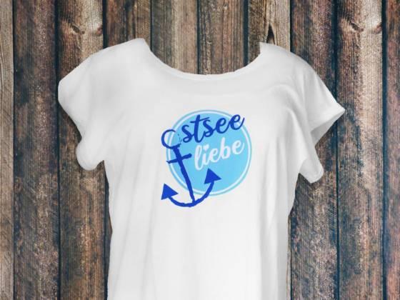Damen Shirt Ostsee mit Anker