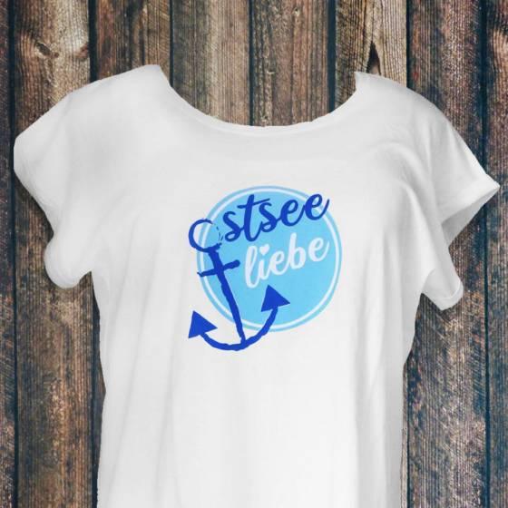 Damen T-Shirt Ostsee Liebe mit Anker Motiv