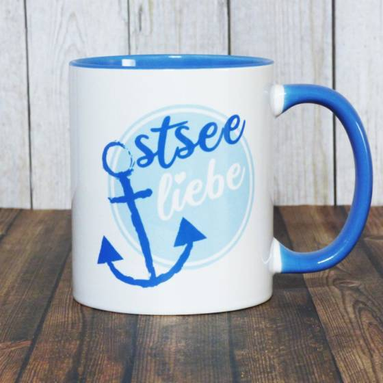 Ostsee Liebe – Kaffeebecher mit maritimem Motiv für Ostsee-Fans
