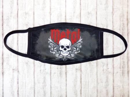 Heavy Metal Skull Mund & Nasen Maske / Stoffmaske