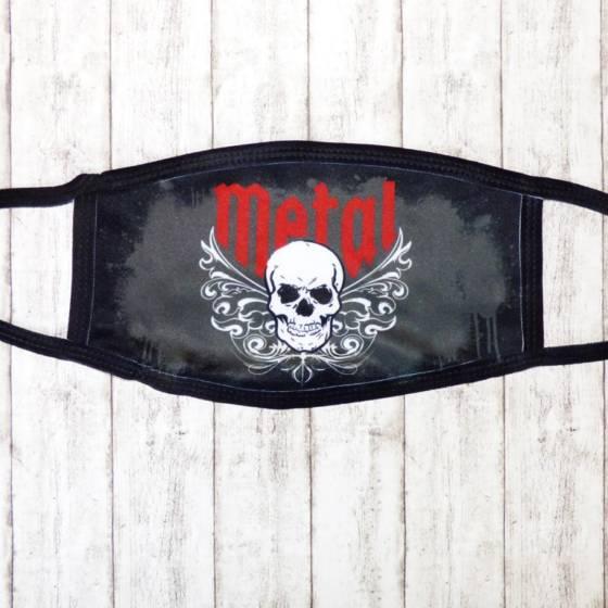 Heavy Metal Skull Mund-Nasen-Maske / Stoffmaske