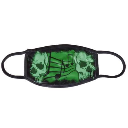 Behelfsmaske im Totenkopf Design