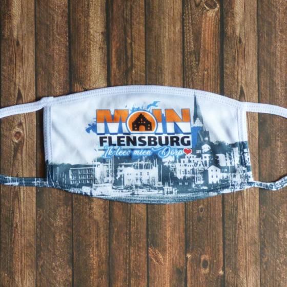 Moin Flensburg Mund-Nasen-Maske / Alltagsmaske bedruckt