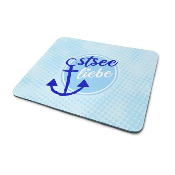 Mousepad Anker Motiv Ostsee Liebe