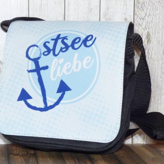 """Maritime Umhängetasche / Schultertasche mit Anker-Motiv """"Ostsee-Liebe"""" für Damen und Herren"""