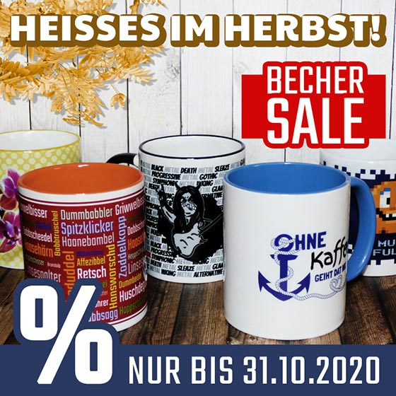 Aktion Becher Sale Oktober 2020