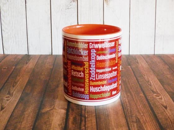 Kaffeebecher mit Pfälzischen Wörtern