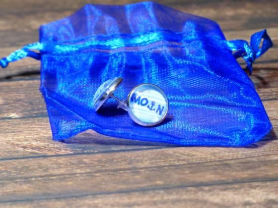 Anker Ohrringe/Modeschmuck für Männer und Frauen mit Schriftzug 'Moin'