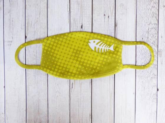Communitymaske gelb mit Fischgräte