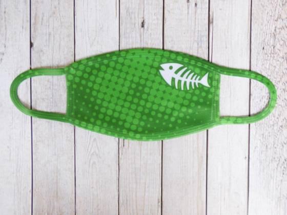 Communitymaske grün mit Fischgräte