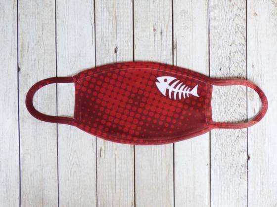 Community Maske rot mit Fischgräte