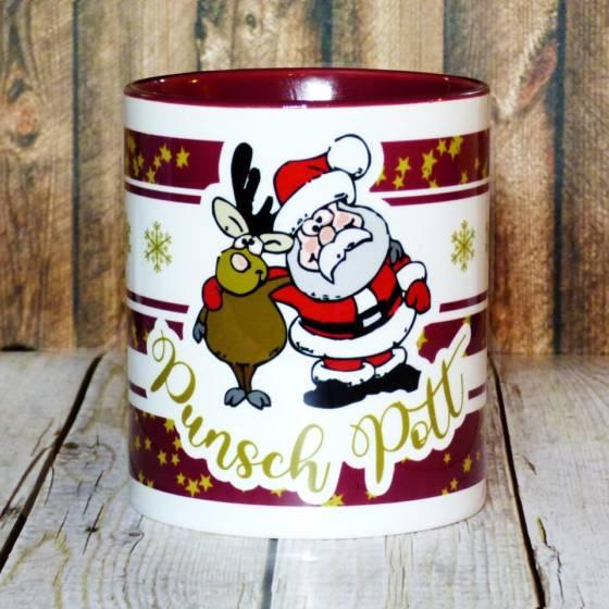 Punsch Pott – Lustiger Keramik Glühweinbecher mit Henkel