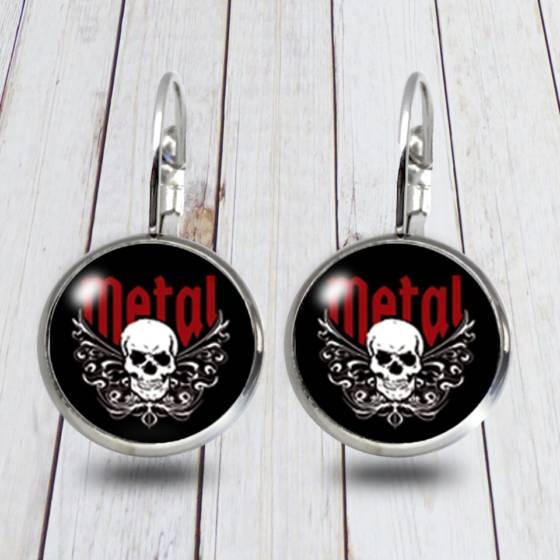 Totenkopf Skull Ohrringe/Brissuren schwarz für Damen und Herren