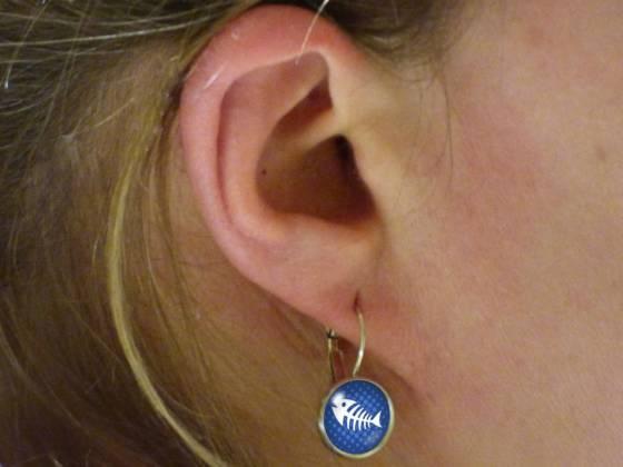 Maritime Ohrringe schönes Motiv blau