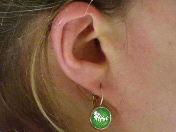 Maritime Ohrringe schönes Motiv grün