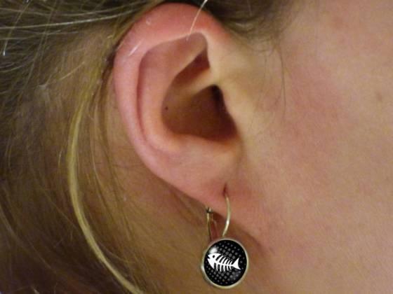 Maritime Ohrringe schönes Motiv schwarz